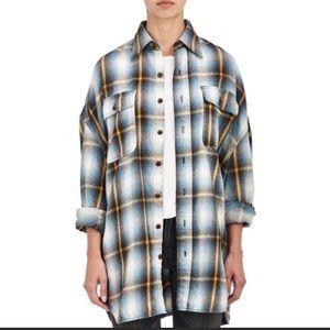 R13 'x oversize plaid shirt' medium euc